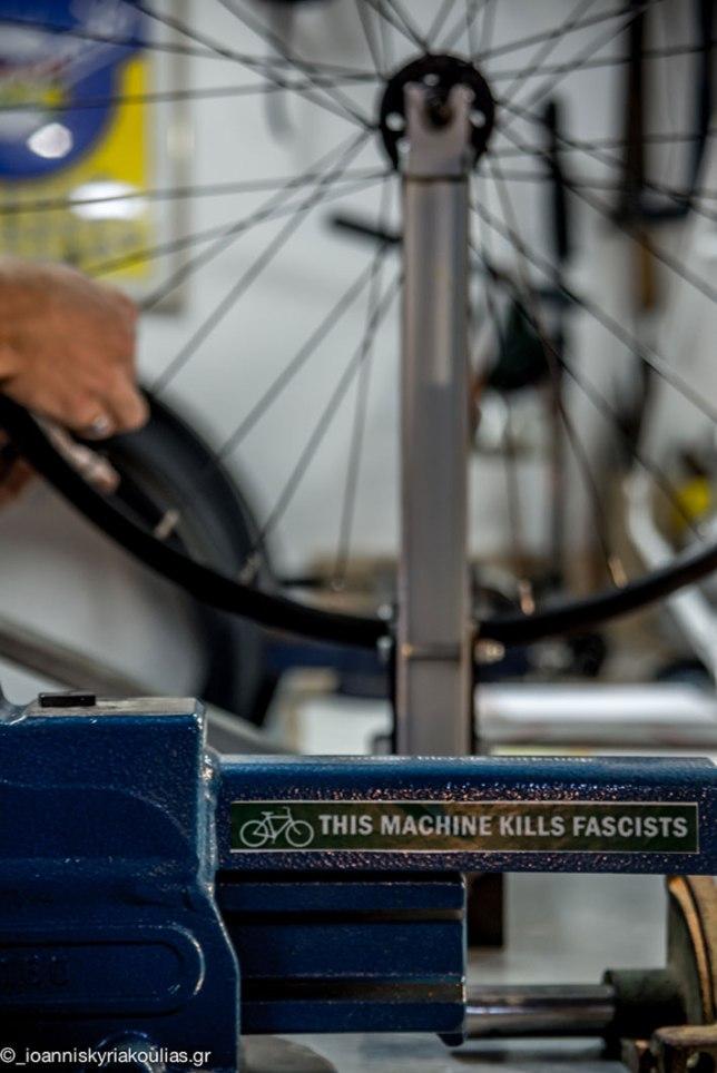 vintage bicycle workshop