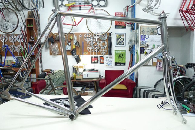 1st hand made track bicycle